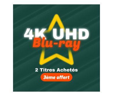 Jusqu'au 20 avril 2021 : 2 Blu-ray 4K achetés = le 3ème offert