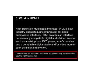 Pas de câble HDMI livré avec la future PS3 !