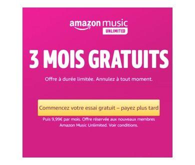 Amazon Music Unlimited : Profitez de 3 mois entièrement gratuits !