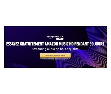 Amazon lance son offre musical Amazon Music HD