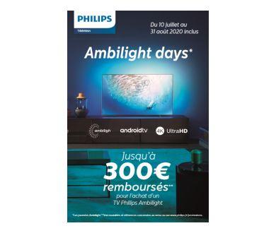 Philips TV Ambilight : Nouvelle offre de remboursement du 10 juillet au 31 août