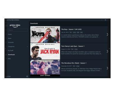 Amazon Prime Video : Une application officielle Windows 10 avec un mode hors-ligne