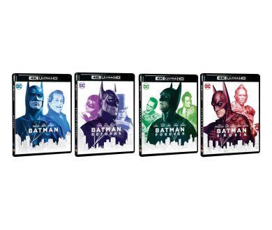 MAJ Audio : Tétralogie Batman (1989-1997) en 4K Ultra HD Blu-ray le 4 juin