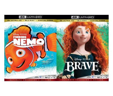 Rebelle et Le Monde de Nemo aperçus en 4K Ultra HD Blu-ray chez Pixar