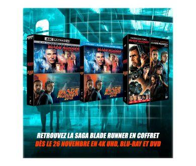 Saga Blade Runner : Coffret spécial 4K Ultra HD Blu-ray en France dès le 26 novembre