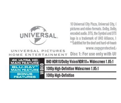 Universal mise aussi sur la combinaison HDR10+ et Dolby Vision
