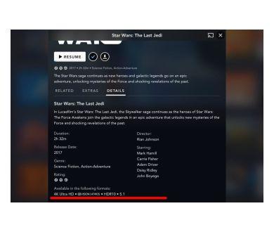 Disney+ : Une première liste de films compatibles Dolby Vision et Atmos