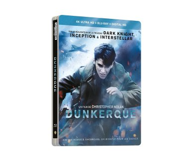 Dunkerque de Christopher Nolan en SteelBook 4K Ultra HD Blu-ray à -63%