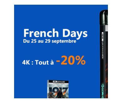 French Days jusqu'au 29 septembre et Sélection coffrets & 4K à Petits Prix