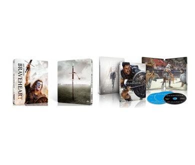 MAJ Préco : Gladiator et Braveheart : Nouvelles éditions 4K Ultra HD Blu-ray (Steelbook) en mai