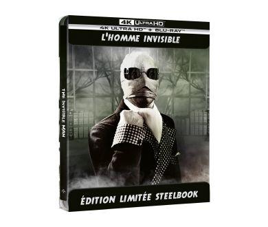 L'Homme Invisible (1933) en Steelbook 4K Ultra HD Blu-ray en France le 6 octobre