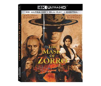 Le Masque de Zorro (1998) officialisé chez Sony Pictures en 4K Ultra HD Blu-ray