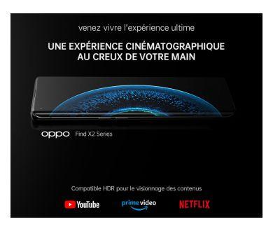 Oppo Find X2 Pro : Un écran HDR10+, 100% P3, profondeur 10-bits