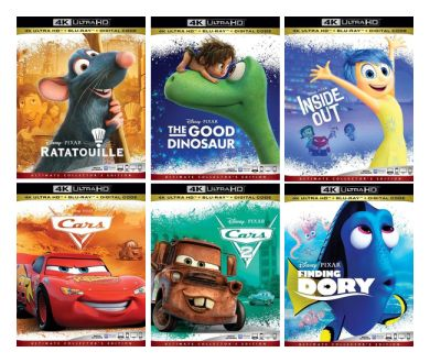 Pixar : Une avalanche de 4K Ultra HD Blu-ray en préparation !