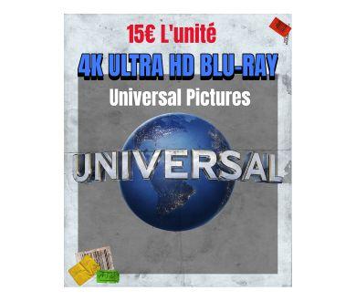 Universal : Plus de 50 éditions 4K Ultra HD Blu-ray à 15€ l'unité !