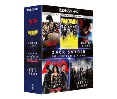 Zack Snyder : Un coffret 5 films (4K Ultra HD Blu-ray) à partir du 10 novembre en France